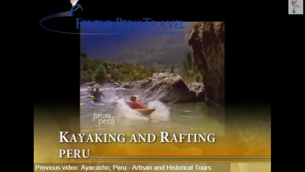 Check out Fertur Peru Travel's new video on kayaking and rafting in Peru