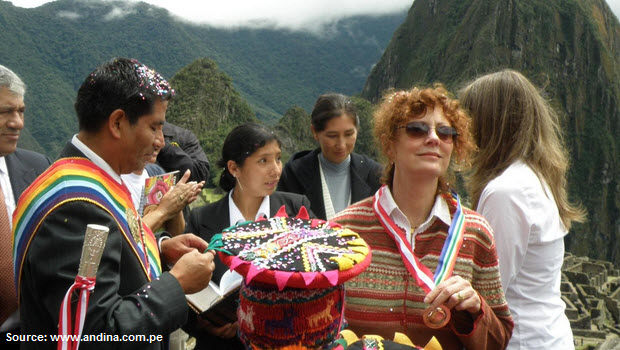 Where else besides Machu Picchu should Peru enlist the help of stars like Susan Sarandon?