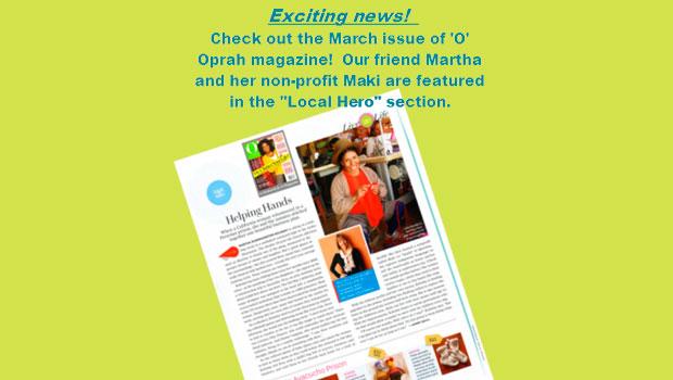 Oprah's O magazine spotlights co-founder of Maki International as Local Hero