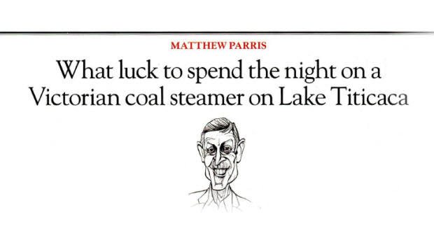 Matthew Parris sings the praises of a night aboard the Yavarí on Lake Titicaca