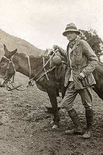 Explorer Hiram Bingham during a 1912 expedition to Machu Picchu. Photo: Peabody Museum of Natural History, Yale University