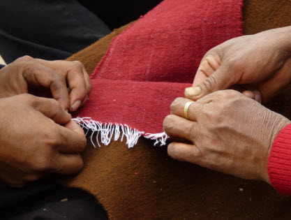 Traditional weaving in Pacchu, Vinchos Province, Ayacucho