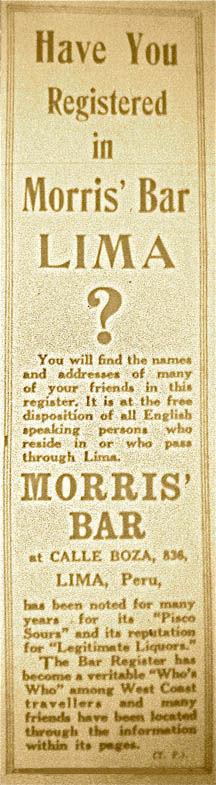 Morris' Bar Registry