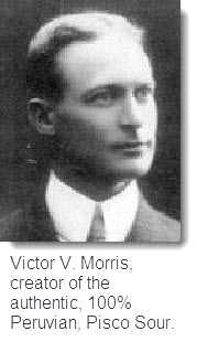Victor Morris, creator of the Pisco Sour