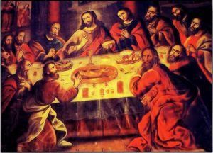 Guinea pig, an Andean delicacy, features prominently in this Cuzco portrait of The Last Supper