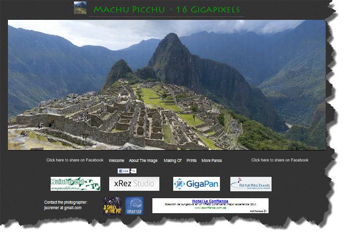 Machu Picchu 16 Gigapixels