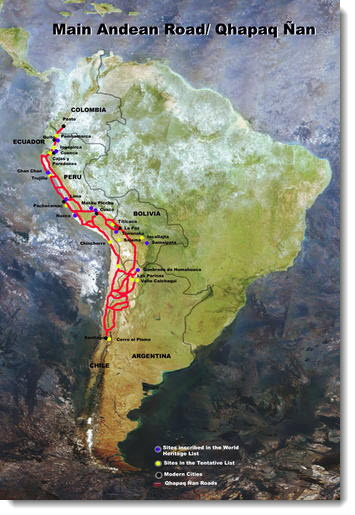 Qhapaq Ñan, the system of Inca trails that connected an empire.