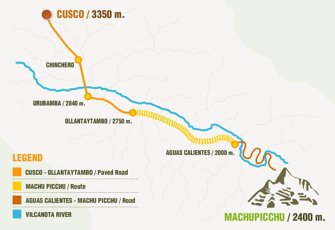 Machu Picchu Train Route Map