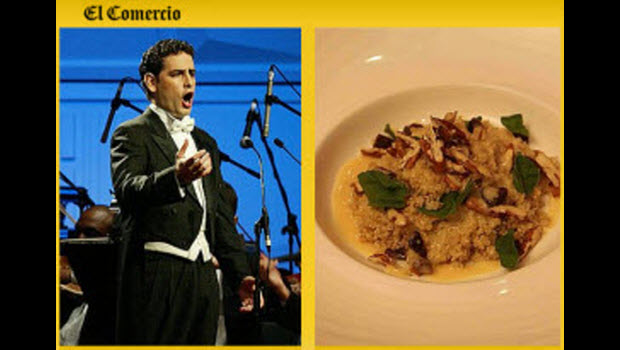 El Comercio: Quinoa, the secret of Juan Diego Flórez's energetic opera performances