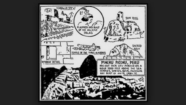 The early introduction of exotic Machu Picchu to travelers
