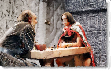 Legend has it that Inca Atahualpa was taught chess by conquistador Hernando de Soto.