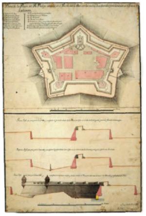 Fortaleza del Real Felipe diagram