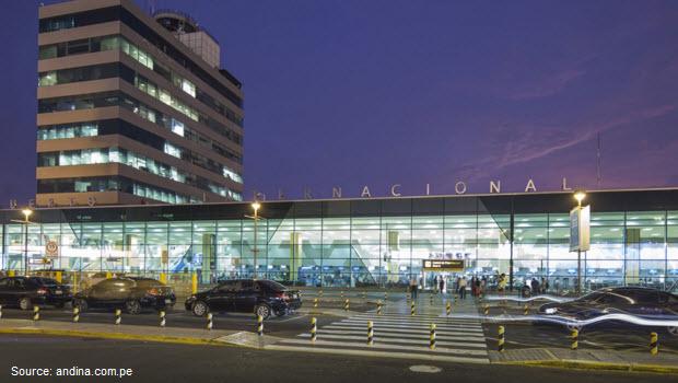 Luggage storage at Lima's Jorge Chavez International Airport