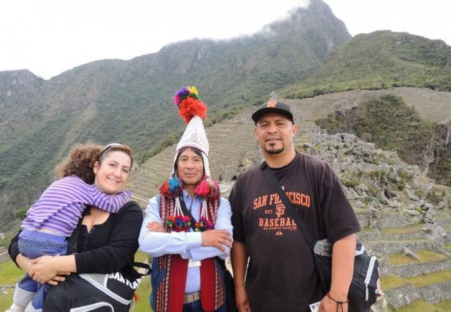 Family tour of Machu Picchu