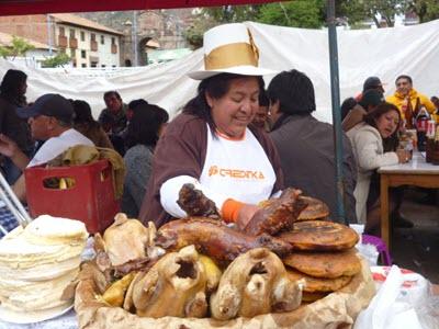 Preparing amazing traditional Cusco cuisine