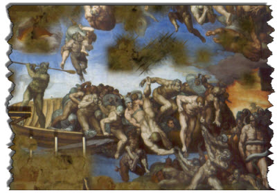 What if the Sistine Chapel was reduced to a hellishly fragmented archaeological ruin?