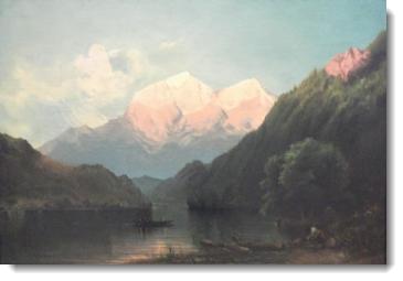 Paisaje Huascarán, painted by Teofilo Castillo.