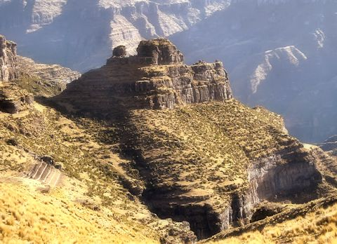 Consider hiking an alternative Inca trail to reach Waqrpukara, a lesser-known archaeological site.