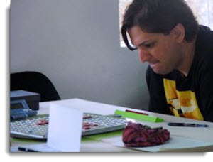 Stefan Rau at the first round of the Peru Tour Scrabble - Lima, Sacred Valley, Cusco and Machu Picchu®