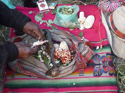 Ritual offerings ~ © 2010 Peru National Institute of Culture