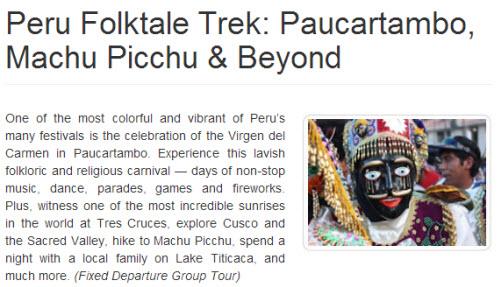 Paucartambo Festival Group Tour 2014