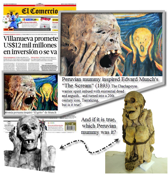 "Headline: Peruvian mummy inspired Edvard Munch's ""The Scream"""