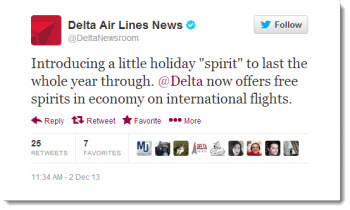 Delta now offering free spirits in economy class on international flights to destinations like Lima, Peru