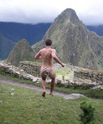 A Machu Picchu vacation can't get any more natural than this.