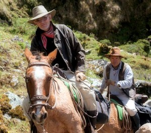 Gary Ziegler and his longtime Andean adventure companion Edwin Dueñas on their way to Choquequirao