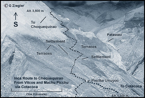 Choquequirao route