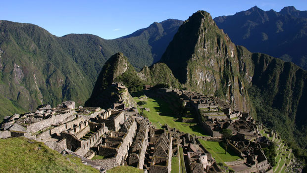 Machu Picchu at mid-day