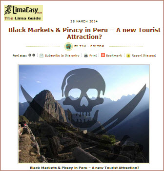 Black Markets & Piracy in Peru - A new Tourist Attraction ~ LimaEasy