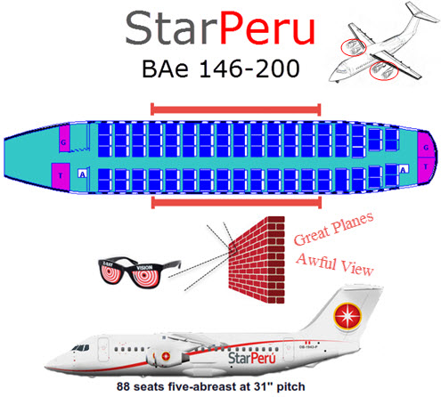 StarPeru's BAe aircraft quietly and fuel efficiently muscle their way through the heavens to the Inca captial, Cusco