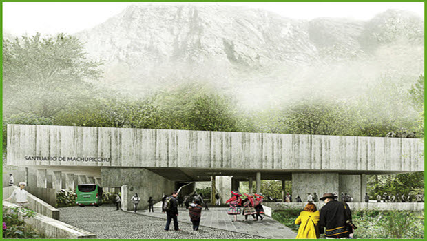 Design of new visitor complex entrance chosen for Machu Picchu