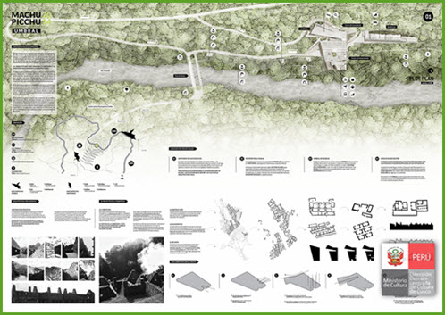 Planned Machu Picchu visitor center to be built across the Vilcanota River, near the Puente Ruinas.