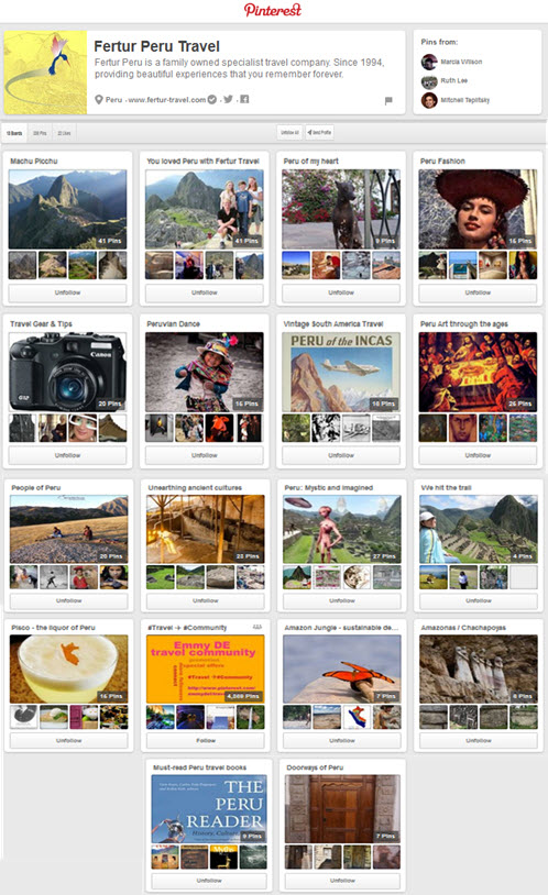 Fertur Travel Pinterest