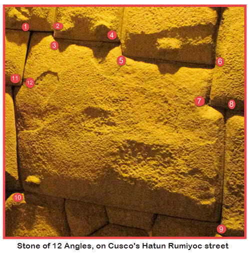 12-Angle Stone Calle Hatunrumiyoc - Cuzco