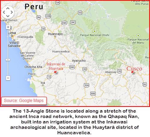 13-Angle Stone of Inkawasi map