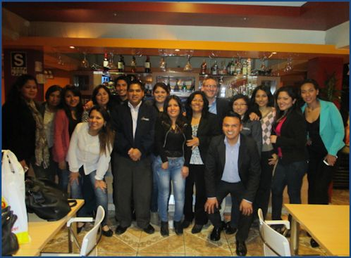 Fertur Peru Travel's staff from the Lima and Miraflores office got together to celebrate the tour company's 20th anniversary