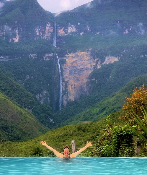 At 2,531 feet, Gocta Waterfalls are believed to be the third highest falls in the world
