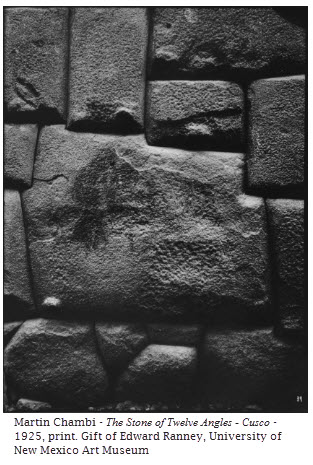 Martin Chambi - The Stone of Twelve Angles - Cusco - 1925