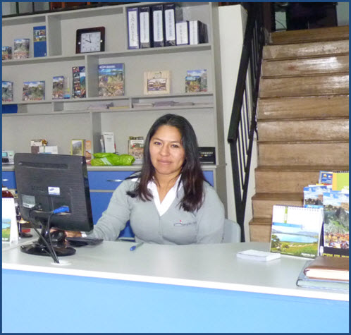 Veronica 2013 Fertur Cusco office