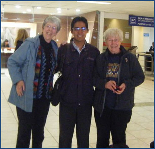 Fertur clients at the Cusco airport in 2011