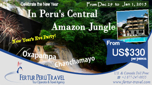New Years 2015 in Peru's Central Amazon with Hotel Chanchamayo Inn