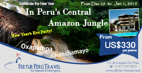 Party in Amazon. New Year's Celebration in Peru's Central Amazon Jungle