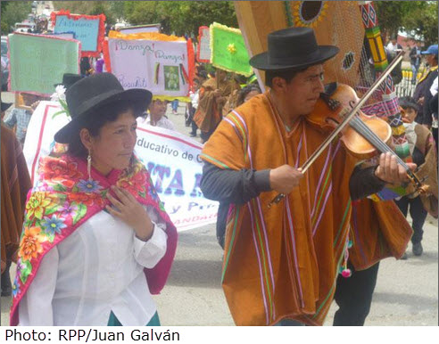 15th Annual All Arts Festival in Andahuaylas in hommage to Jose Maria Arguedas