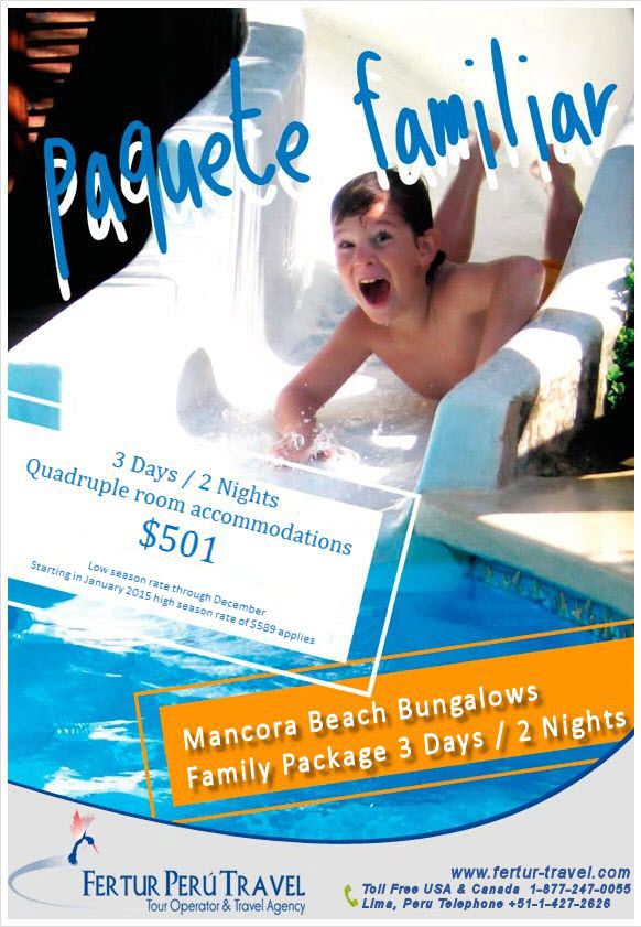 Make Mancora a part of your family vacation to Peru.