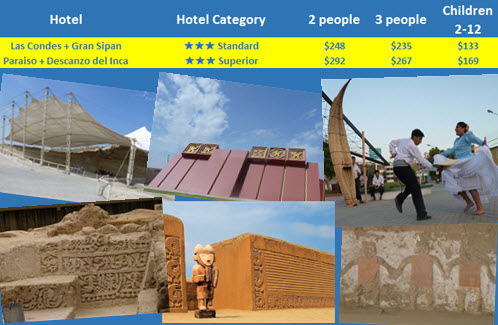 Book this Northern Peru Archeology Tour featuring accommodations in comfortable 3-star hotels