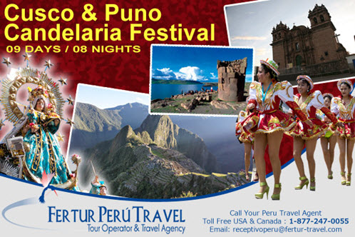 Special Tour Package featuring the highlights of Cusco and Machu Picchu and culminating with one of the premier festivals of South America, the Virgin de la Candelaria along the shores of Lake Titicaca