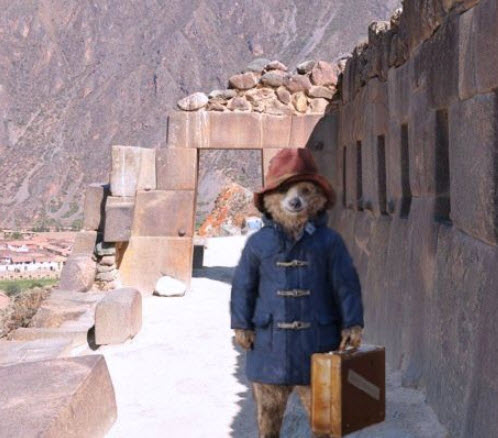 Paddington tours the Inca temple Pisaq in Cusco